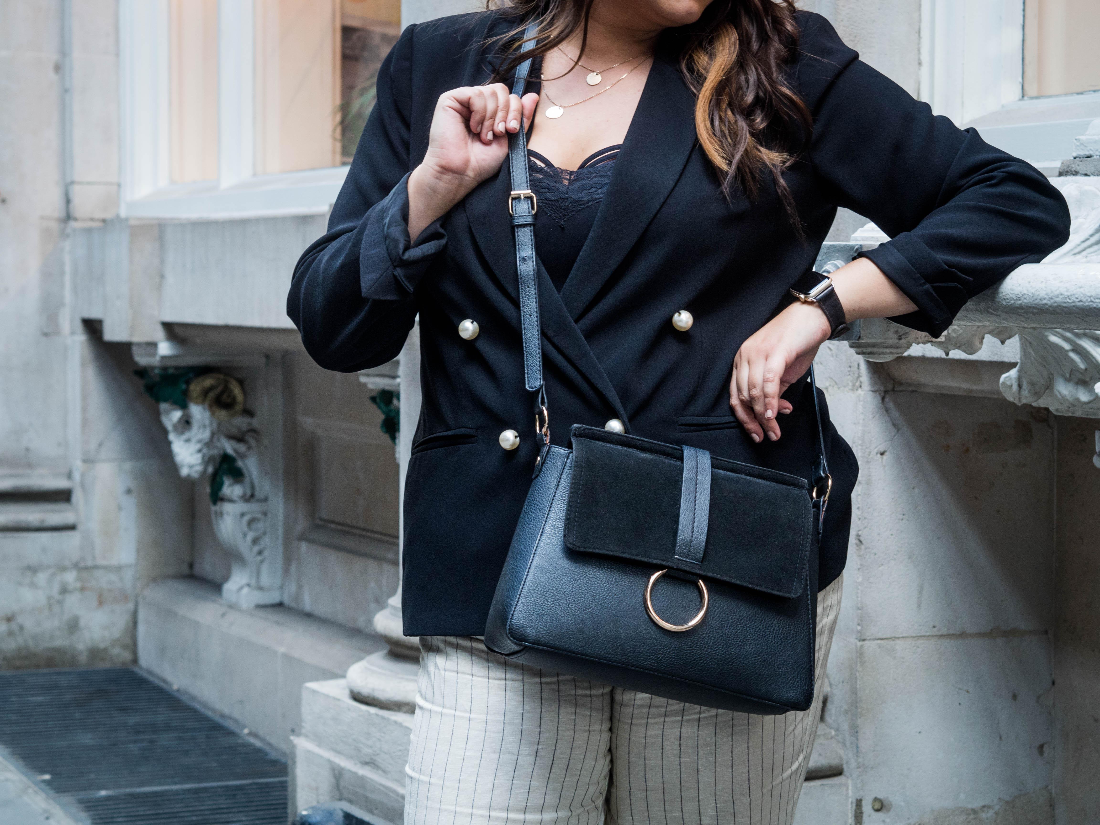 Pearl Jacket, Mango Culottes, Chanel slingbacks outfit fashion
