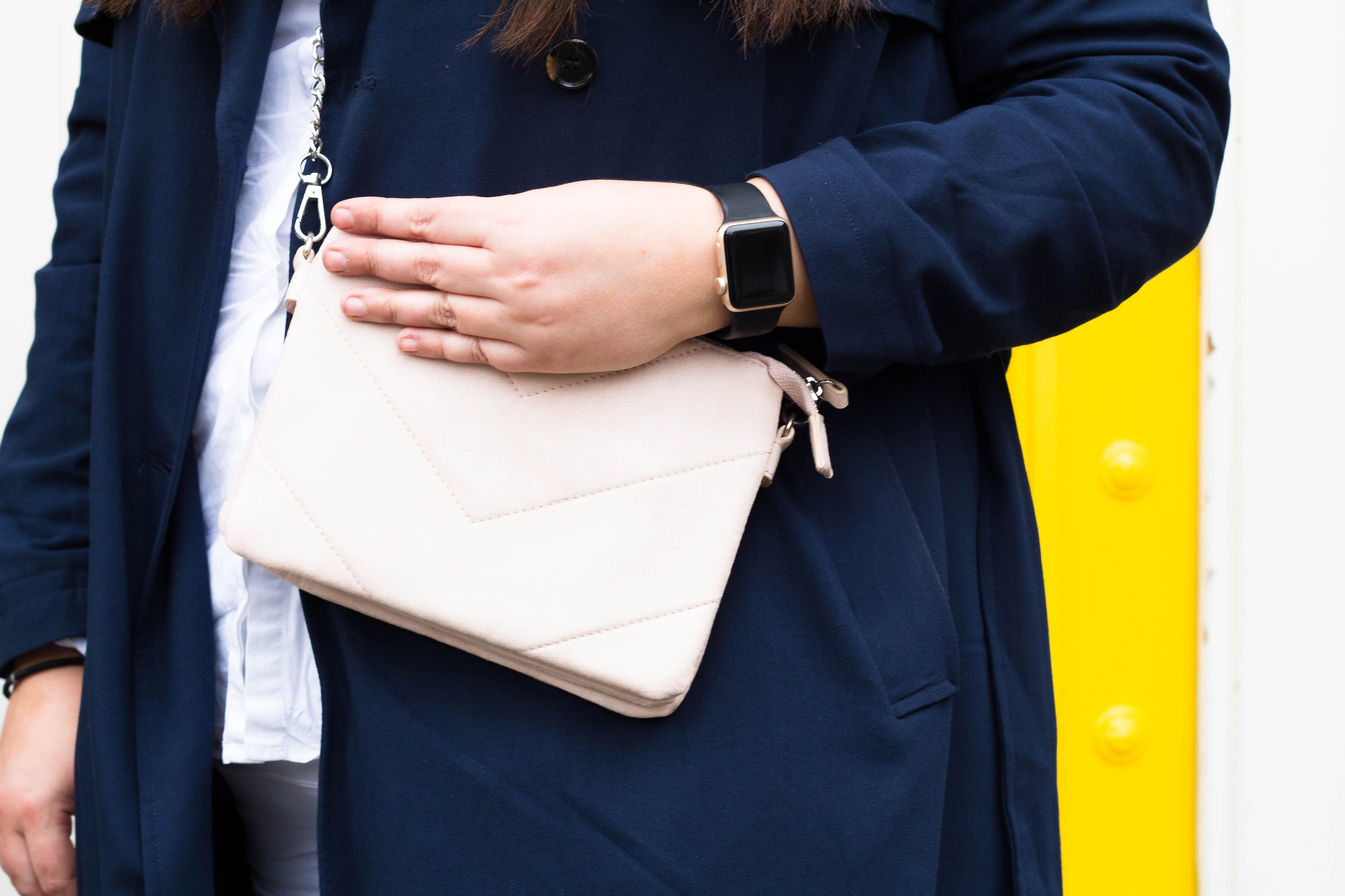 Giveaway - Damart Pink suede handbag
